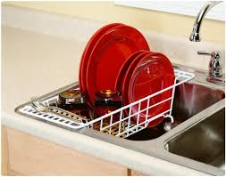 Kitchen Sink Dish Rack Hanging Dish Drainer Drain Racks For Kitchen Sinks Large
