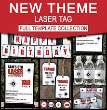 laser tag party invitations u0026 decorations