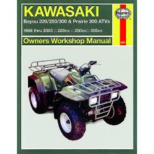 manual haynes for 2000 kawasaki kvf 300 a2 prairie 4x4 ebay