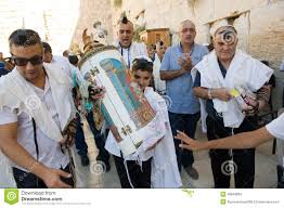 bar mitzvah in israel bar mitzvah ritual at the wailing wall editorial stock image