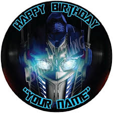 optimus prime cake topper buy transformers optimus prime personalised 7 5 edible