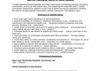 Free Dental Assistant Resume Templates Dental Assistant Resume Inside Free Dental Assistant Resume