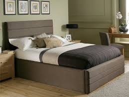 Modern Bed Frame With Storage King Size Beautiful King Sized Bed Frame Solid Wood Material