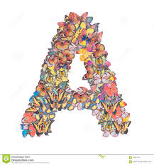 letter k alphabet with butterfly stock illustration illustration