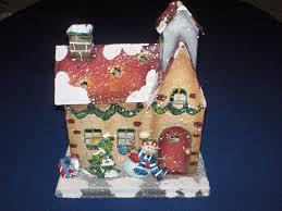 home interiors christmas house luminary dual tea light votive