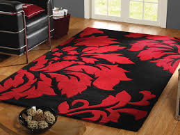 Round Red Rugs Round Black And Red Contemporary Area Rugs Black And Red