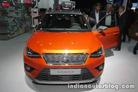 seat arona front at iaa 2017 indian autos blog