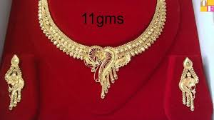 all necklace images Latest gold necklace designs with weight all gold jewellery jpg