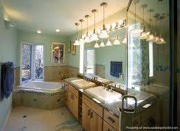 popular of master bathroom lighting bathroom brilliant elegant master with custom cabinetry lighting