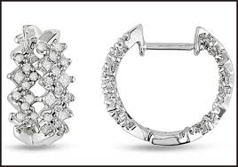 earrings styles princess cut diamond hoop earrings styles you should see top