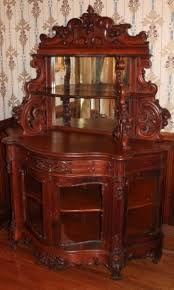 Etagere Antique Extraordinary 1860 U0027s American Rococo Carved Oak Etagere With