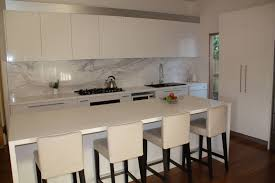 kitchen bench ideas granite countertop rta cabinetry smeg dishwasher stainless steel