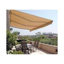20 Ft Retractable Awning Aleko Motorized Retractable Patio Awning 20 X 10 Ft Sand Color Ebay