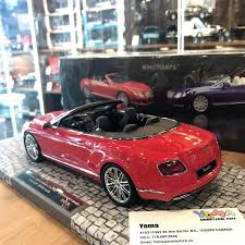 bentley canada minichamps 1 18 bentley continental gt speed convertible 2013 red