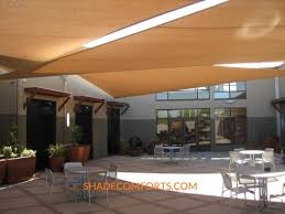 Sail Patio Cover Courtyard Shade Sails For Recreation Center