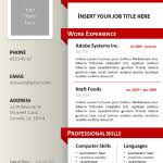 Powerpoint Resume Template Resume Template Powerpoint Free Single Slide Resume Template For