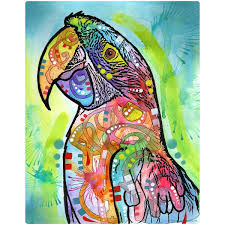 macaw parrot dean russo wall decal pop art wall decor