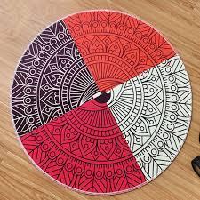 tappeto disegno geometria astratta di disegno fiore ventaglio tondo tappeto