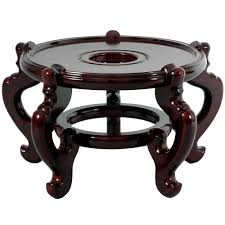 Fish Home Decor Accents Oriental Furniture 10 5 In Rosewood Fishbowl Stand In Rosewood St