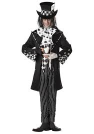 horror halloween costumes dark mad hatter mens alice in wonderland horror halloween