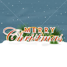 beautiful poster merry christmas snow blue background