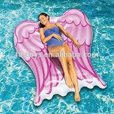 pool float lounger inflatable angel wings pool float hammock buy