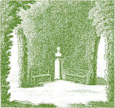 classic garden scene the graphics fairy