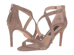steve madden silver rhinestone heels steven nahlah taupe suede
