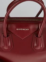 Givenchy Antigona Cowhide Givenchy Dark Red Box Calf Leather Medium Antigona Bag Yoogi U0027s