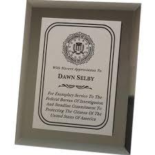 plaque bureau grey smoked mirror plaque