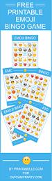free printable emoji bingo game catch my party
