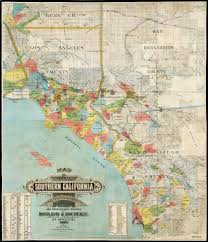 Cal Map Map Of A Part Of Southern California Accurately Compiled From