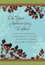anniversary cards for leafy branches anniversary card for priest greeting cards hallmark