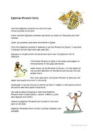 egyptian pyramids facts worksheet free esl printable worksheets