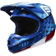 motocross helmets youth fox racing 2016 limited edition youth v1 captain america helmet