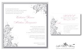 magnificent silver wedding invitations theruntime