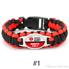 survival bracelet styles images Mix styles diabetic type 1 paracord survival bracelets hope ribbon jpg