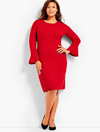 woman red dresses talbots com