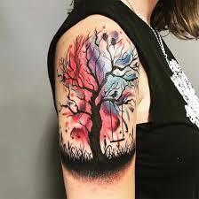 shoulder tattoos water color shoulder tattoos for
