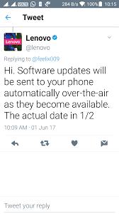 re system update on the new lenovo k6 power lenovo community