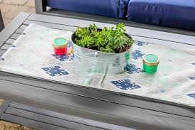 Homemade Patio Table by Drab To Fab Easy Patio Furniture Makeover Our Three Peas