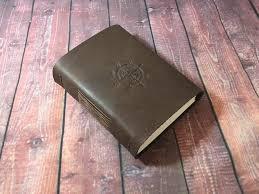 custom leather books