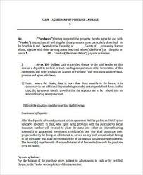 property purchase land agreement letter sample templatesland