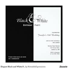 elegant black and white party 5 25x5 25 square paper invitation