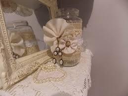 lace on jar shabby chic vintage rustic wedding decor decor
