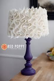 Diy Lamp Shade Diy Ruffle Lampshade Los Angeles Photographer Red Poppy