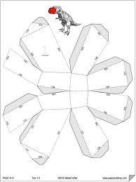 template diy trex 3d papercraft template diy paper pet dinosaur printable