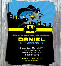 theme invitations batman birthday theme party invitation card printable