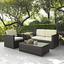 Wicker Patio Table Set 3 Outdoor Patio Furniture Set With Chair Loveseat And