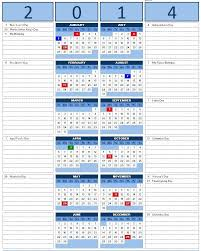 excel calendar template 2014 year calendar with side note excel